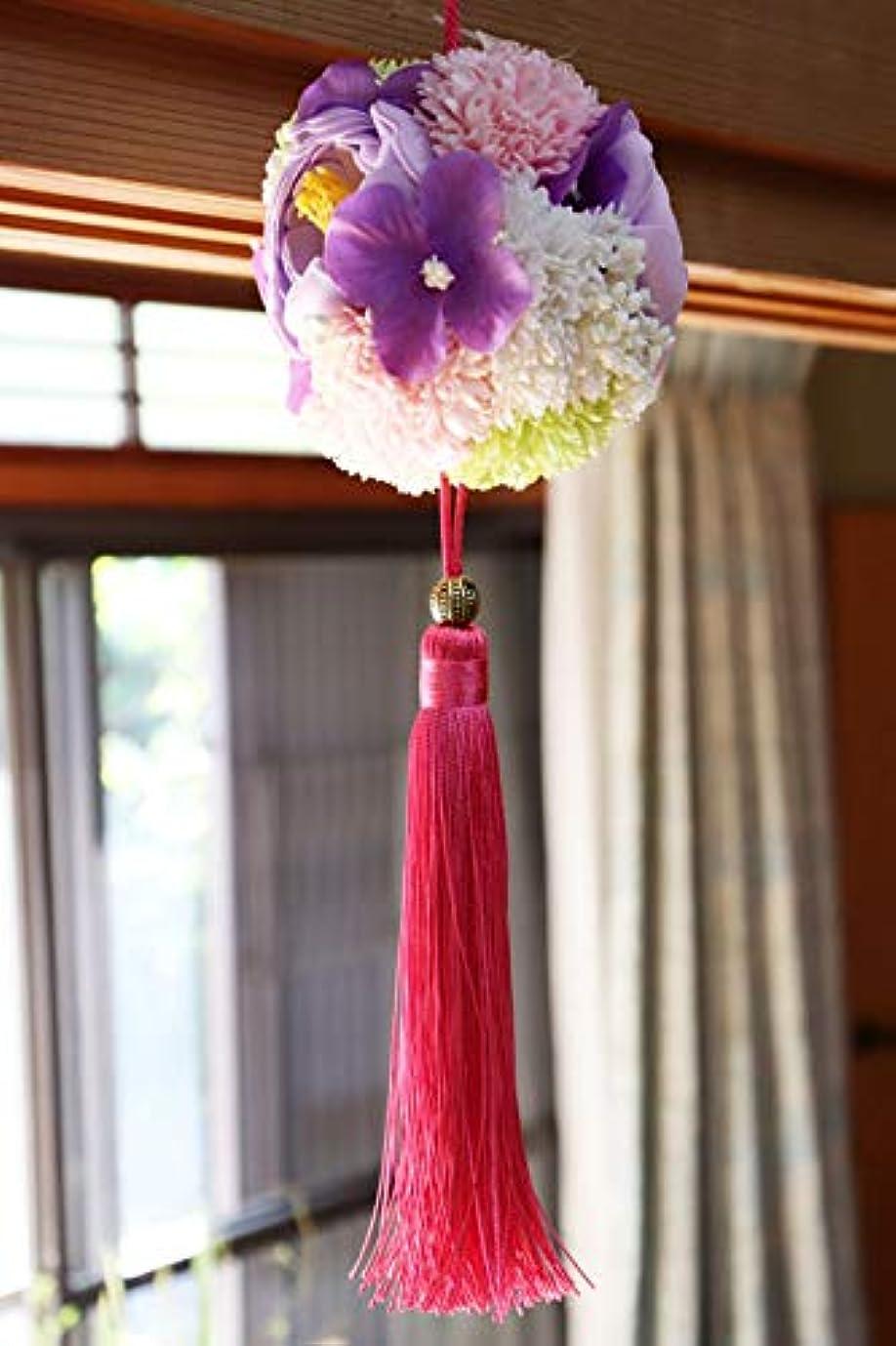 色または調和迎春 ソープ フラワーボール ピンク リースボール ボールブーケ ドアオーナメント お正月 リース 可愛い