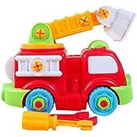 Linshop ファンシー解体車消防車のおもちゃ赤ちゃんリムーバブル?アセンブリのネジを1~3歳