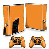 マイティースキンズカバーfor Xbox 360Sスリム+ 2コントローララップステッカースキンソリッドオレンジ