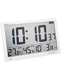 MAG(マグ) デジタル クロック 電波 置掛兼用時計 エアサーチ メルスター W-602 WH ホワイト