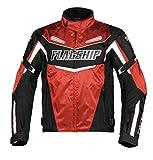 フラッグシップ(Flagship) バイク用ジャケット SAWマルチシーズンジャケット レッド Lサイズ FJ-A192