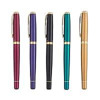 WXZD ペン、万年筆、ビジネスオフィスペン、男性と女性誕生日ギフトセット、(ペンヒント0.5ミリメートル) (Color : Black)