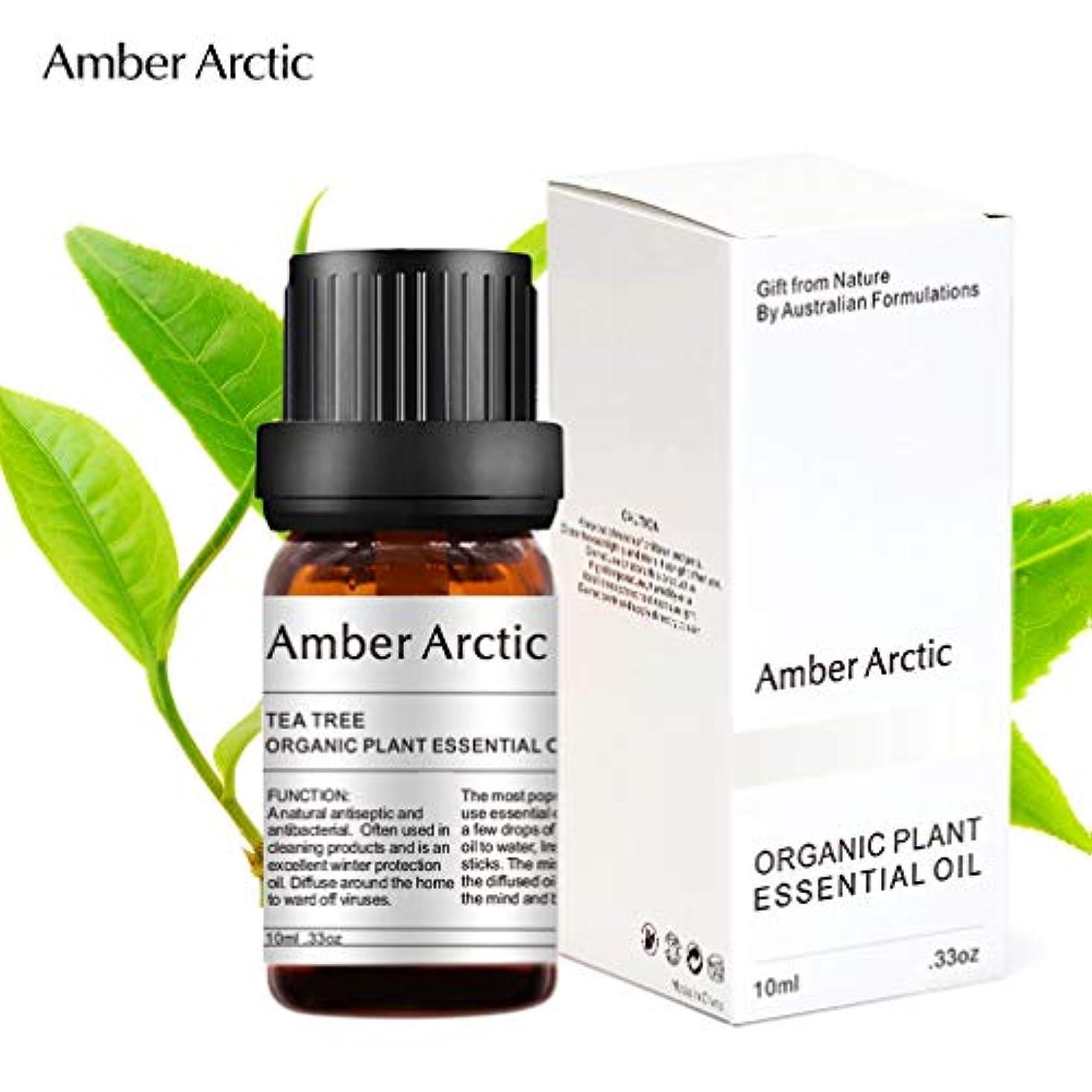 二週間アーサー海AMBER ARCTIC ティー ツリー エッセンシャル オイル ディフューザー 用 100% ピュア フレッシュ オーガニック 植物 セラピーティー ツリー オイル 10ml / 0.33oz