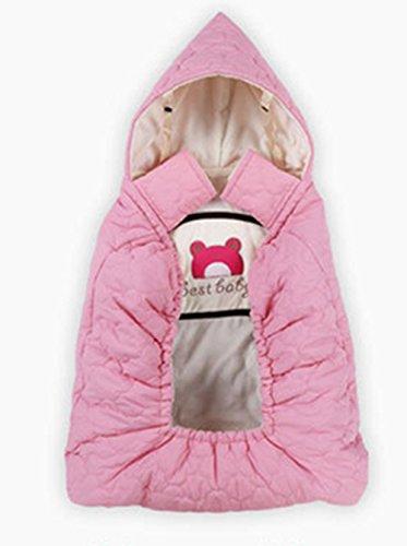 抱っこ紐カバー 抱っこ紐ケープ 撥水 防寒カバー 冬にも暖かく出かけられる キャリアカバー ベビーケープ 三色 (ピンク)