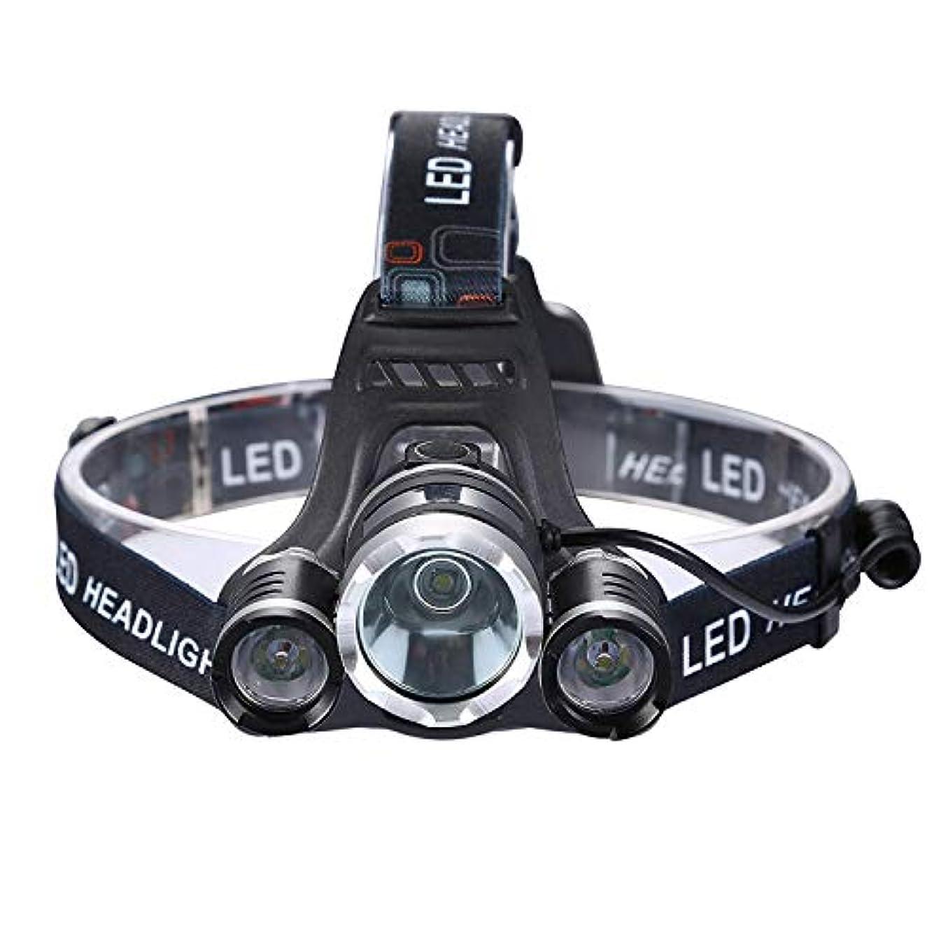 ステッチ子供っぽいマネージャー屋外多機能ナイトフィッシングライト明るい懐中電灯ヘッドマウントライティングマイナーランプ3LEDアルミ合金USB充電式T6ライディング、キャンプ、ランニングのための強いヘッドライト