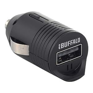 iBUFFALO (iPhone6s/6,iPhone6s Plus/6 Plus動作確認済) スマートフォン/タブレット用USBシガーチャージャー 1ポートタイプ ブラック BSMPBDC01BK