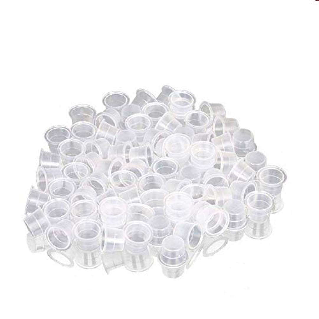罪人ストリップフルートインクカップ、顔料カップ、顔料ボックス ディスポーザブル、シリコーン製颜料ツール、キッ100個のための小さな染料皿