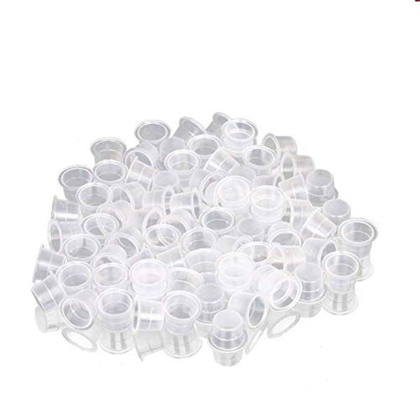 分離するロッジモットーインクカップ、顔料カップ、顔料ボックス ディスポーザブル、シリコーン製颜料ツール、キッ100個のための小さな染料皿