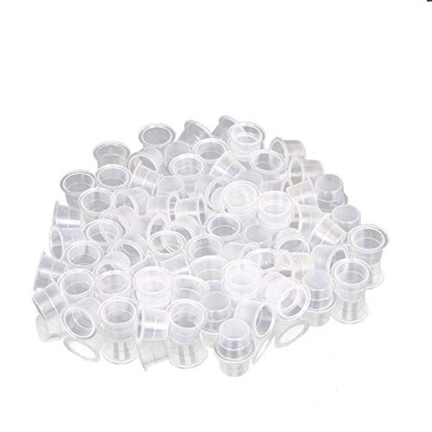 助けになる参加者胚芽インクカップ、顔料カップ、顔料ボックス ディスポーザブル、シリコーン製颜料ツール、キッ100個のための小さな染料皿