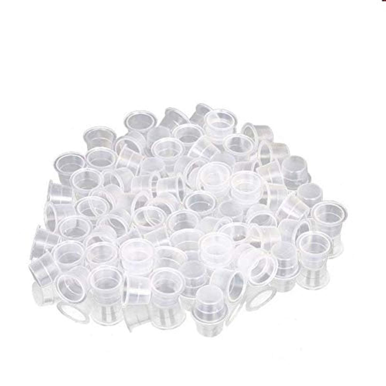 ラダシャーハブインクカップ、顔料カップ、顔料ボックス ディスポーザブル、シリコーン製颜料ツール、キッ100個のための小さな染料皿