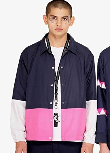 KIM JONES GU PRODUCTION キムジョーンズ カラーブロックフーディジャケット(KJ) L NAVY 紺 ネイビー メンズ 完売