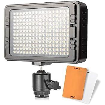 UTEBIT 照明 撮影ライト LED 204球 ビデオライト 高輝度 1440ルーメン 定常光ライト 双色温度 5600K/3200K 一眼レフ ビデオカメラ 用 撮影用ライト 撮影照明 C-204/PT-204