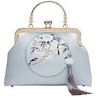 ACVIP Women's Floral Pattern Chinese Traditional Retro Vintage Clutch Wristlet Handbag