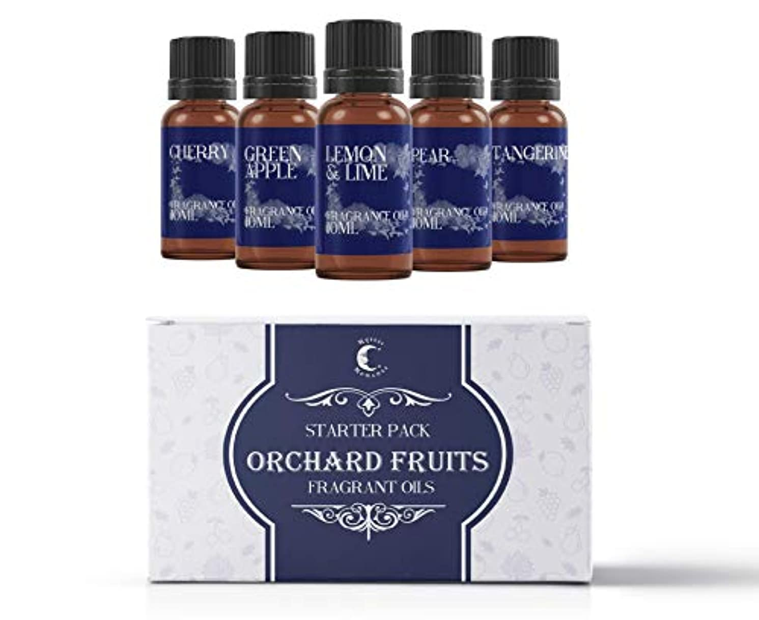 ライフル愚かなながらMystic Moments | Fragrant Oil Starter Pack - Orchard Fruits - 5 x 10ml