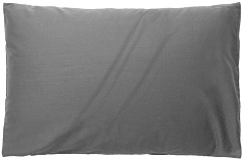 枕カバー ホテル品質 高級綿100% ピローケース 防ダニ 抗菌 防臭(グレー、50x70cm)