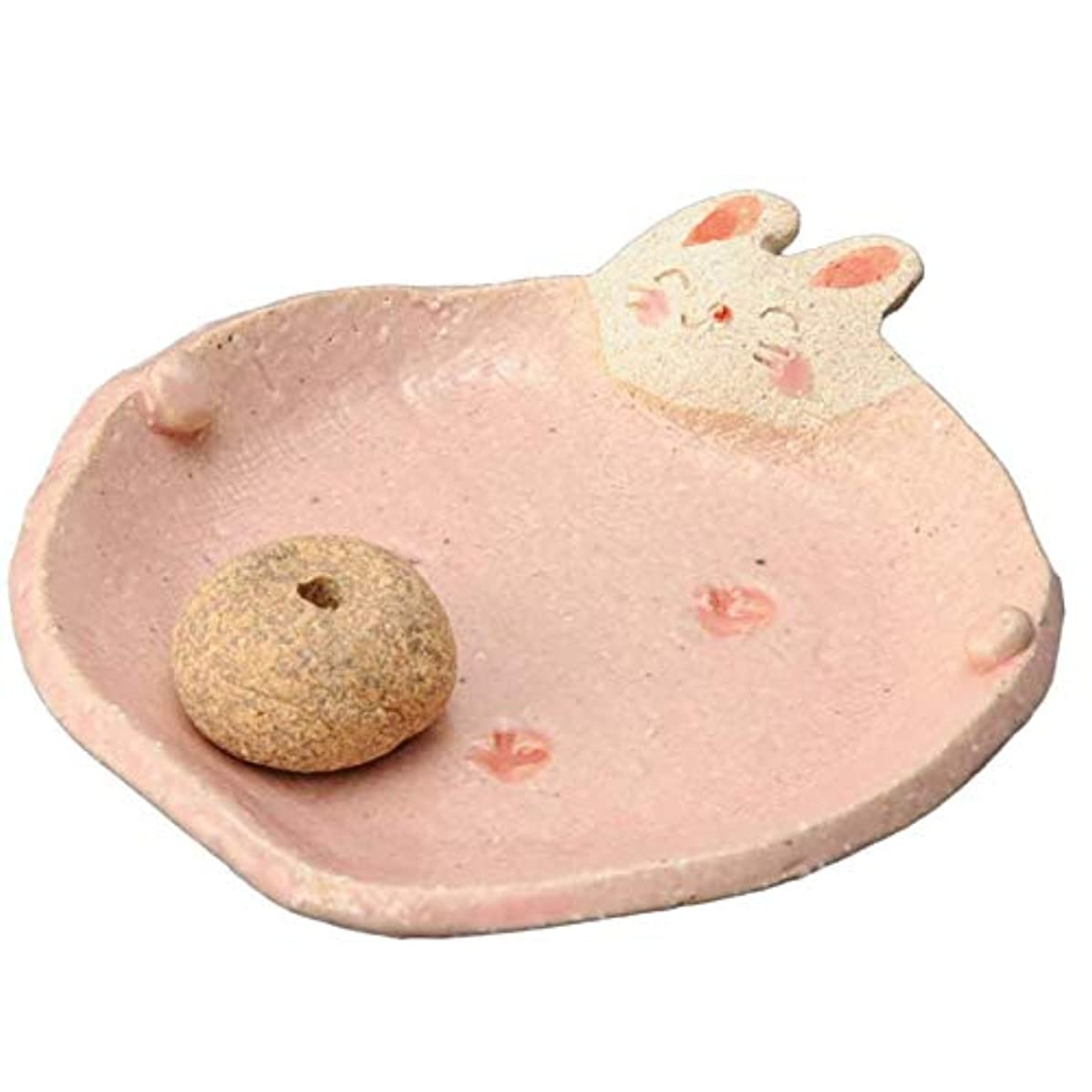 米ドルギャロップ恐れる手造り 香皿 香立て/ふっくら 香皿(ウサギ) /香り アロマ 癒やし リラックス インテリア プレゼント 贈り物