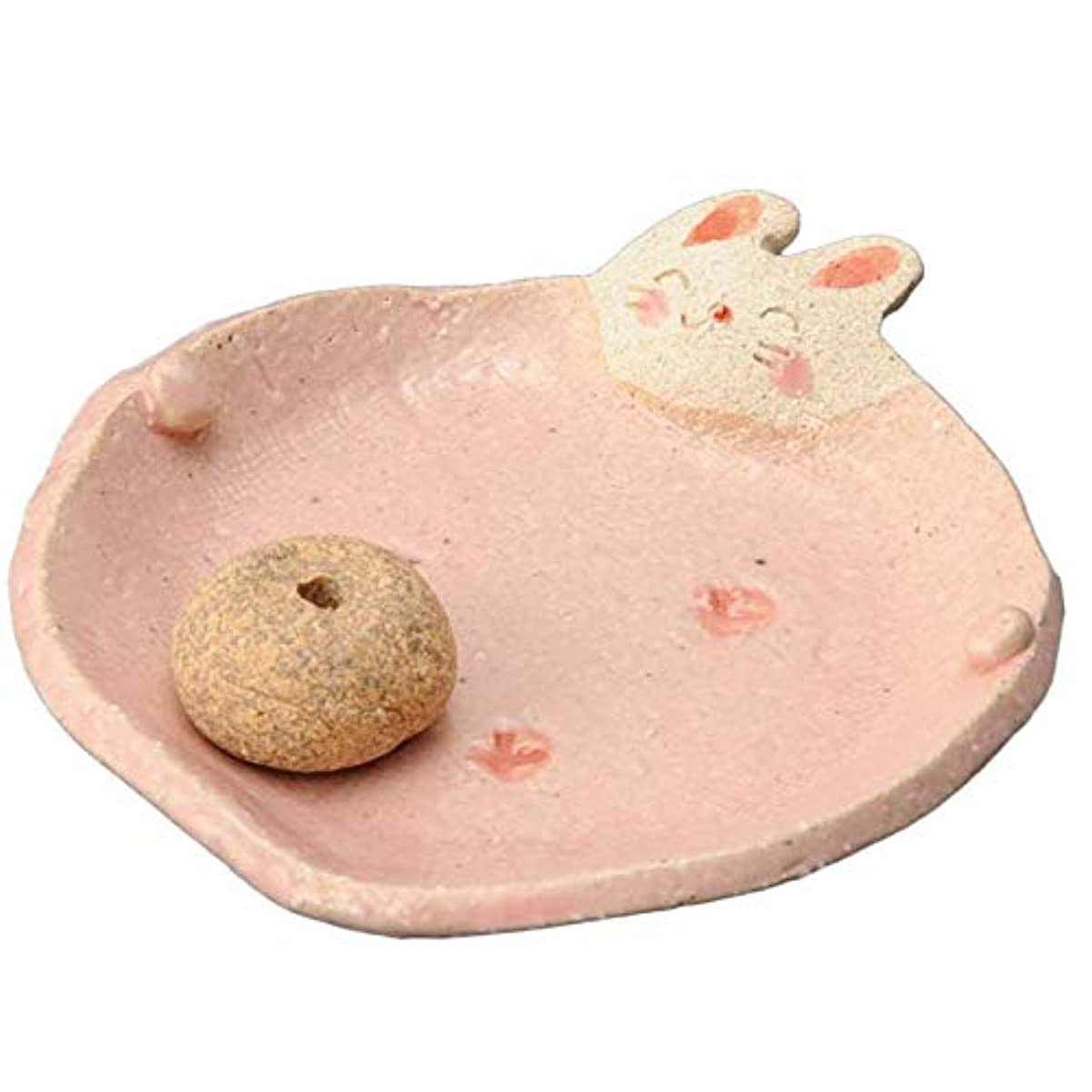 しがみつく推定魅力的手造り 香皿 香立て/ふっくら 香皿(ウサギ) /香り アロマ 癒やし リラックス インテリア プレゼント 贈り物