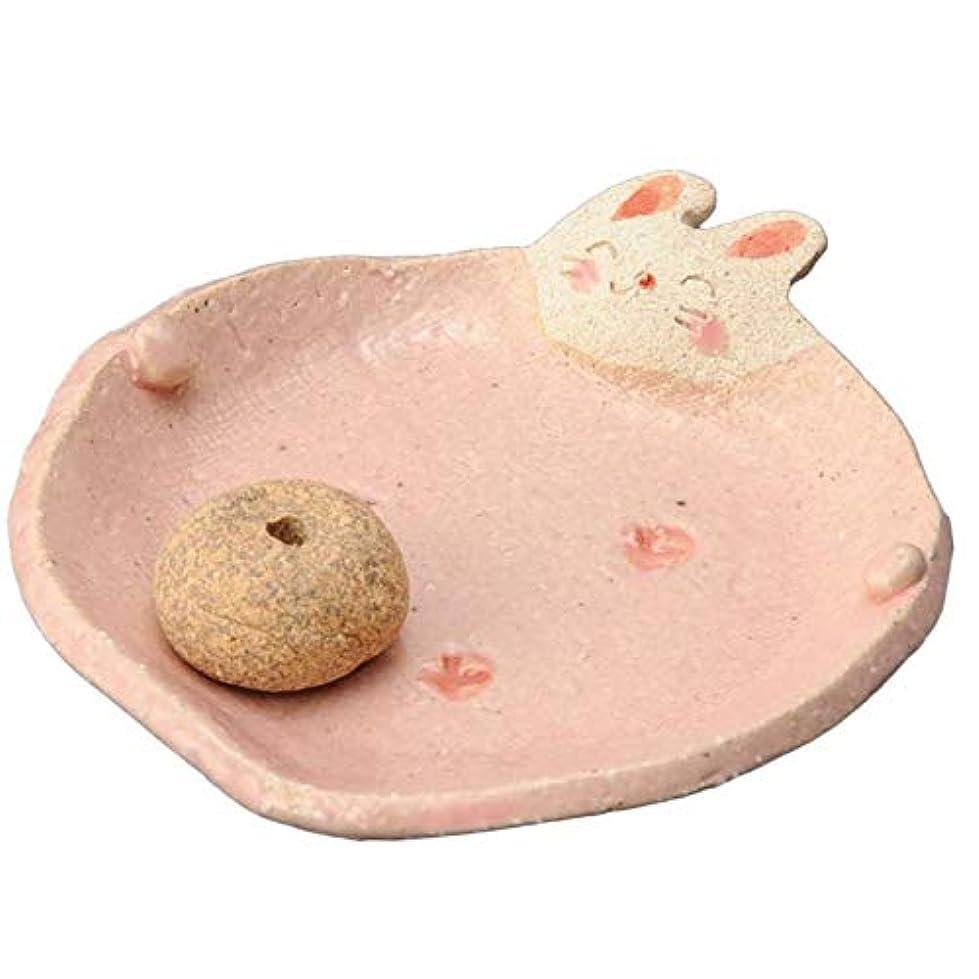 許容できるレーザ叫び声手造り 香皿 香立て/ふっくら 香皿(ウサギ) /香り アロマ 癒やし リラックス インテリア プレゼント 贈り物