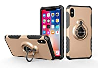 iPhone Xs Max Case, Happon Stylish Thin バックケース Shockproof 保護する Protective Cover Case with Corner Protection Design for iPhone Xs Max (Golden)