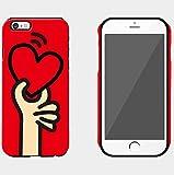 メンズ ダウンベスト 【アイ・ラブ・ショップ】 ILOVE SHOP iPhone&Glaxy 2色のハートとコインパターンの二重バンパーケース.CM.06JJ (Galaxy 8, 1.RED) [並行輸入品]