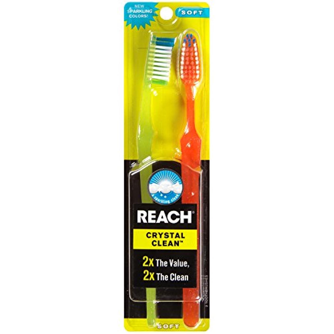 冷ややかな保守的ペデスタルReach Toothbrush Crystal Clean Soft Twin (6 Pieces) by Reach
