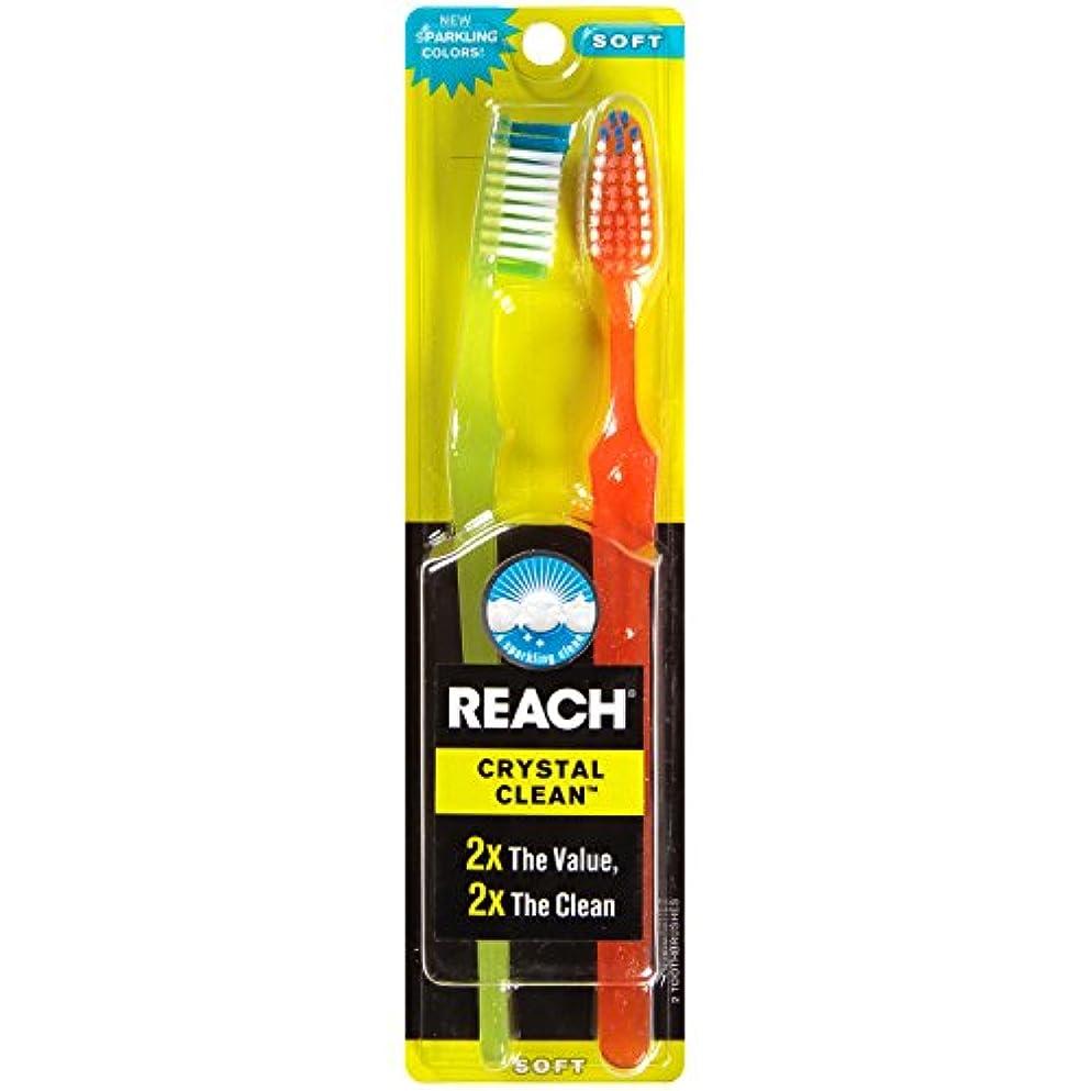 不規則性枝日Reach Toothbrush Crystal Clean Soft Twin (6 Pieces) by Reach