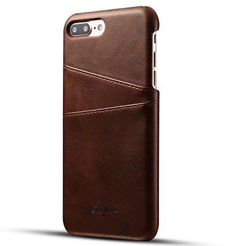 iPhone7Plus ケース 手帳型 アイフォン7 スマホケース 本革 耐衝撃 軽量 革ケース 財布型 レザーケース カード収納 ブラウン