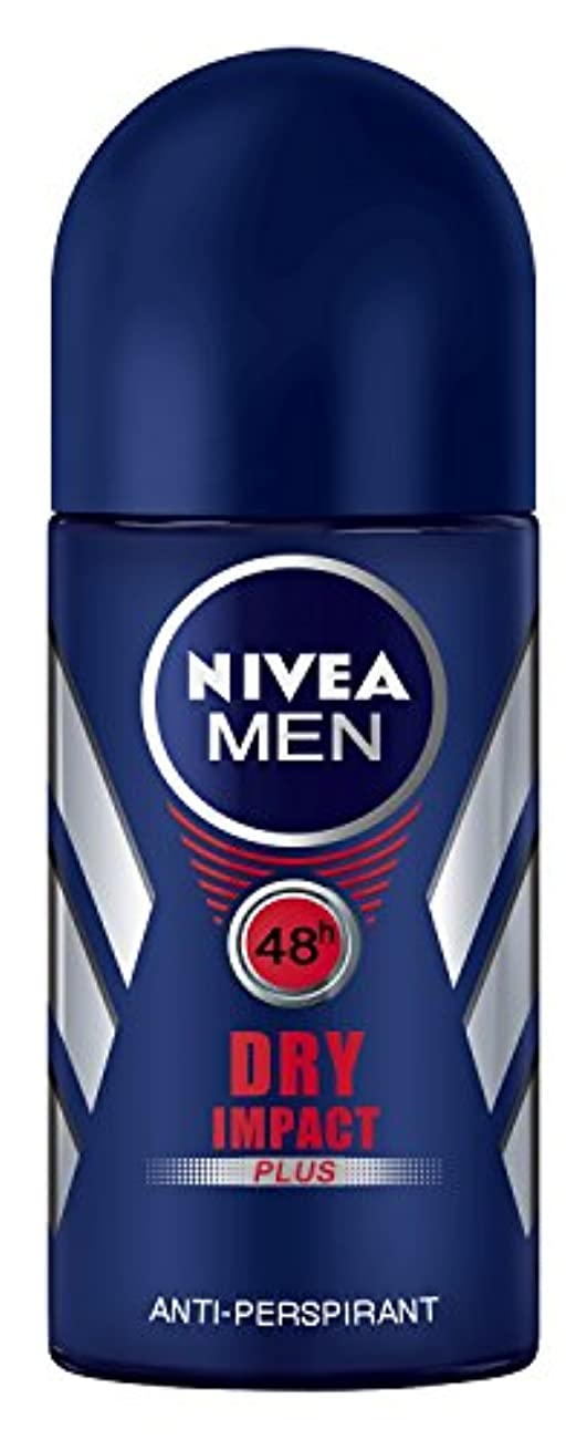 手のひらもっともらしいアルネNivea Dry Impact Plus Anti-perspirant Deodorant Roll On for Men 50ml - ニベアドライ影響プラス制汗剤デオドラントロールオン男性用50ml