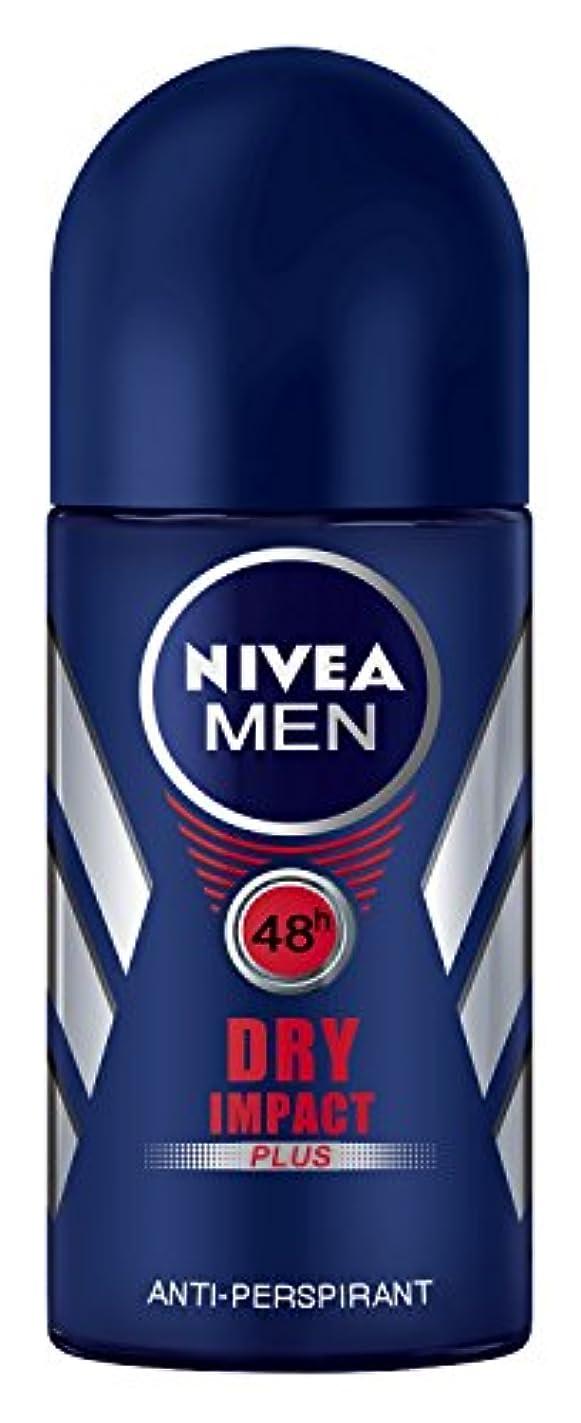 ミキサー吸収剤とまり木Nivea Dry Impact Plus Anti-perspirant Deodorant Roll On for Men 50ml - ニベアドライ影響プラス制汗剤デオドラントロールオン男性用50ml