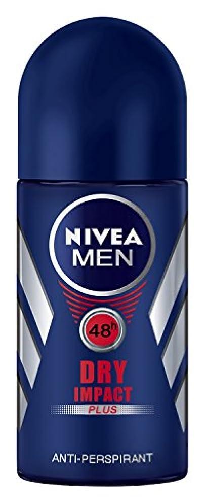 描写海賊丁寧Nivea Dry Impact Plus Anti-perspirant Deodorant Roll On for Men 50ml - ニベアドライ影響プラス制汗剤デオドラントロールオン男性用50ml