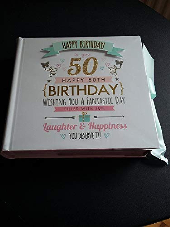 50th Birthday Signography Photo Album Slip in 15cm x 10cm holds 80 pictures