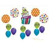 AnagramFunky Zebra Cake BIRTHDAY PARTY Balloons Decorations Supplies 16th 13th Teenager Hippy おもちゃ [並行輸入品]