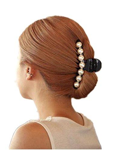 (グレーススタイル)Grace Style パール バナナクリップ 大 大きめ 小 小さめ ヘアクリップ シンプル ジュエルドロップ ダイヤモンド ヘアアクセサリー 髪留め クリップ レディース 人気 ブランド