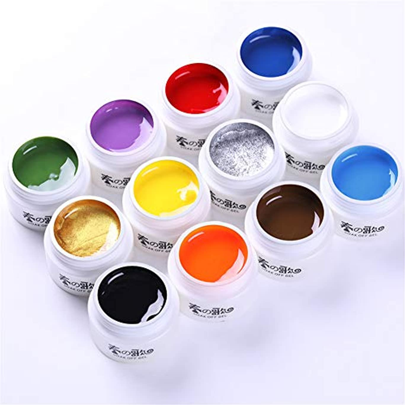 私たち自身ピザミット春の歌 アート専用のカラージェル ライナージェル ものすごく色が濃いカラージェル ラインを引くためのジェル、アクリル絵の具よりも柔らかく使いやすいジェル LED/UV両方対応 [並行輸入品]