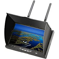 EACHINE LCD5802D FPV Monitor with DVR 5.8G 40CH 7 Inch OSD Dual Receiver Build-in Battery [並行輸入品]