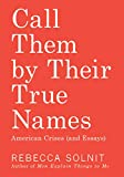 Call Them by Their True Names: American Crises (and Essays) 画像