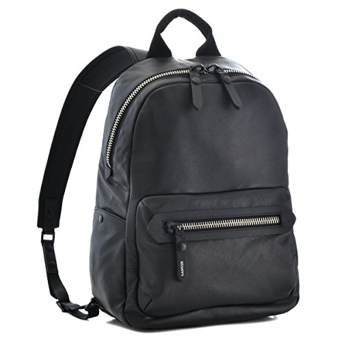 LANVIN/(ランバン) バッグ メンズ カーフスキン バックパック リュックサック ブラック ESAZ-KRUG-10 [並行輸入品]