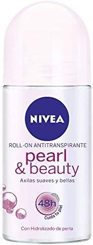 NIVEA Pearl & Beauty Roll On Anti-Perspirant Deodorant,