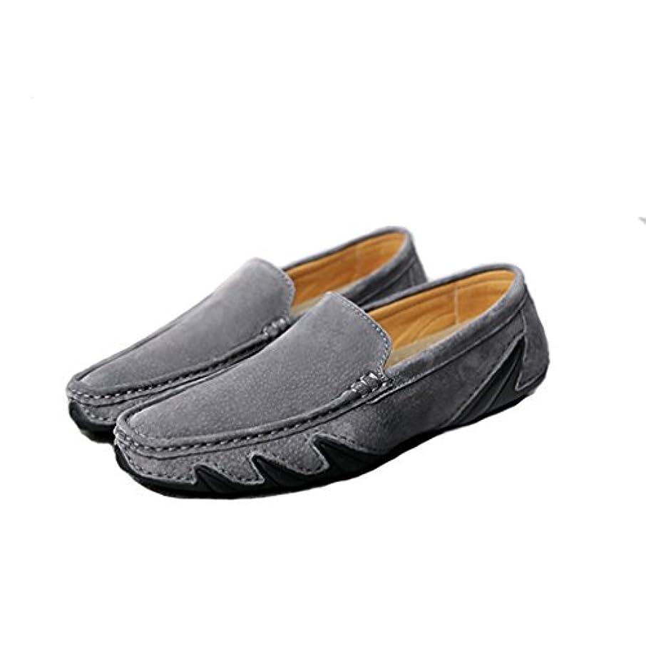 バケットお香観客[OM]メンズ スウェード ドライビングシューズ フラット スリッポン モカシン カジュアル ウオーキング 脱ぎ履き楽々 革靴 高品質 やわらかい 軽量 通勤 通学 抗菌防臭 ローファー 紳士靴