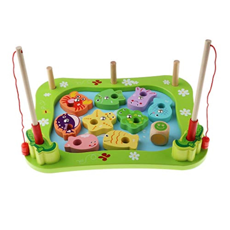 T TOOYFUL 釣りゲームおもちゃ 木製 おままごと ごっこ遊び 知育おもちゃ