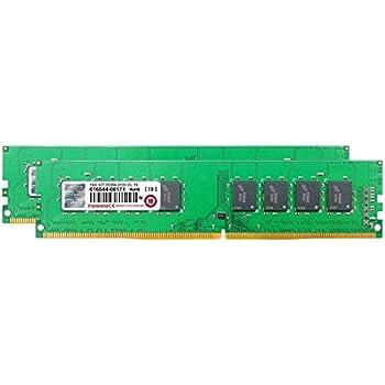 Transcend デスクトップPC用メモリ PC4-17000(DDR4-2133) 8GB×2 1.2V 288pin DIMM TS2133HLH-16GK