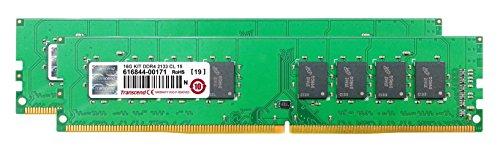 Transcend デスクトップPC用メモリ PC4-17000(DDR4-2133) 8GB×2 1.2V 288pin DIMM (無期限保証)TS2133HLH-16GK