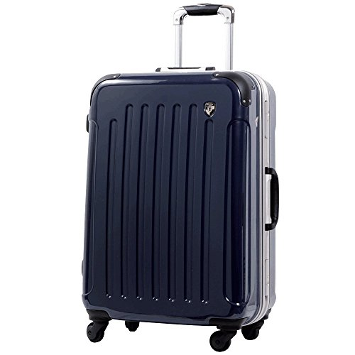 S型 ダークネイビー / newPC7000 スーツケース キャリーバッグ TSAロック搭載 鏡面加工 (1~3日用)