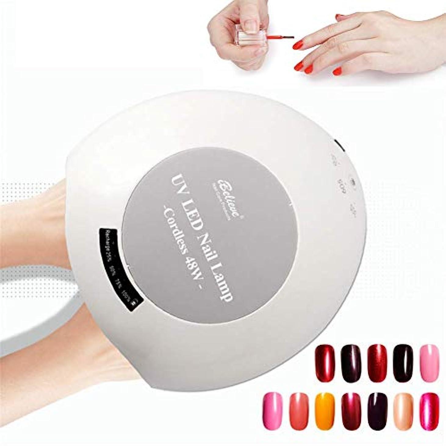 ショッピングセンターホーム女将すべてのゲルのための48W UVランプLEDネイルランプネイルドライヤー赤外線検知付き30/60/90秒タイマースマートタッチボタン