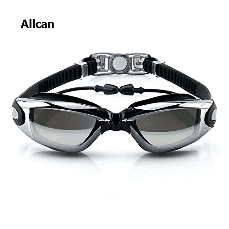 スイミングゴーグル Allcan UVカット 曇り防止 防水 耐圧耐摩耗スイミングゴーグル男女兼用