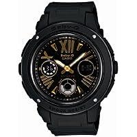Casio Women's BGA153-1B Baby-G Baby-G Shock Black and Rosegold Tone Analog Watch