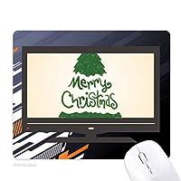 陽気なクリスマスツリーの緑のイラスト ノンスリップラバーマウスパッドはコンピュータゲームのオフィス