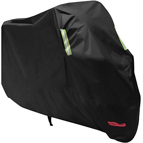 バイクカバー AngLink バイク車体カバー 丈夫な厚手生地 風飛び防止 防水 防塵 耐熱 鍵穴盗難防止 収納袋付き