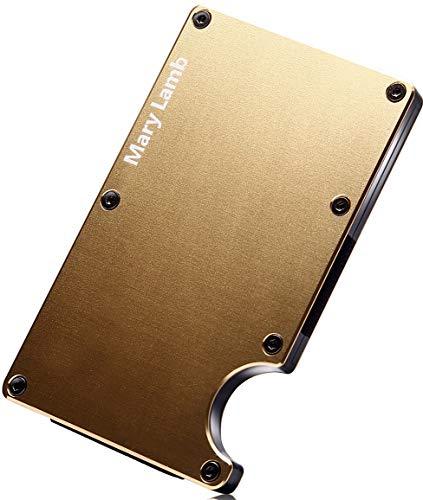 【Mary Lamb】マネークリップ カードケース 日本紙幣対応モデル アルミニウム 超軽量 大容量 磁気スキミング防止 30日保証付き (ゴールド)