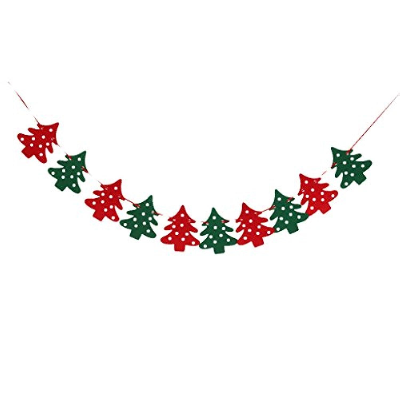 【ノーブランド品】クリスマス バナー 飾り 装飾 ギフト プレゼント 飾り ガーデン 旗 壁飾り デコレーション パーティ クリスマスツリー型